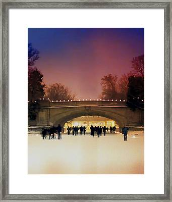 Minneapolis Loppet At Night Framed Print