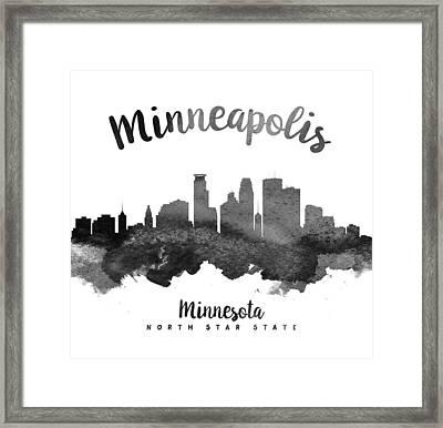 Minneapolis Minnesota Skyline 18 Framed Print by Aged Pixel