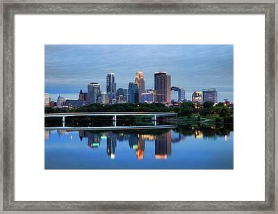 Minneapolis Reflections Framed Print by Rick Berk