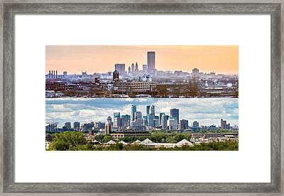 Minneapolis Skylines - Old And New Framed Print