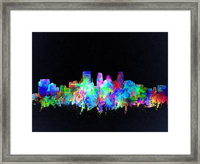 Minneapolis Skyline Watercolor 3 Framed Print