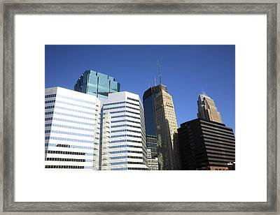 Framed Print featuring the photograph Minneapolis Skyscrapers 11 by Frank Romeo