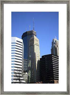 Framed Print featuring the photograph Minneapolis Skyscrapers 12 by Frank Romeo
