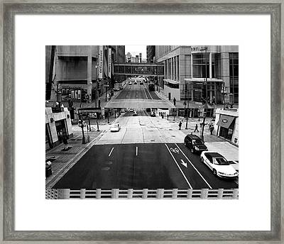Minneapolis Stacked  Framed Print by Susan Stone