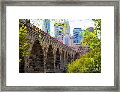 Minneapolis Stone Arch Bridge Photography Seminar Framed Print