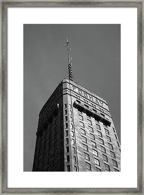 Framed Print featuring the photograph Minneapolis Tower 6 Bw by Frank Romeo