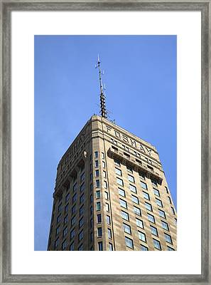 Framed Print featuring the photograph Minneapolis Tower 6 by Frank Romeo