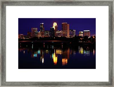 Minneapolis Twilight Framed Print by Rick Berk