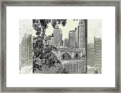 Minneapolis Vision Framed Print by Susan Stone