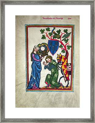 Minnesinger, 14th Century Framed Print by Granger