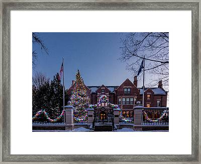 Christmas Lights Series #6 - Minnesota Governor's Mansion Framed Print