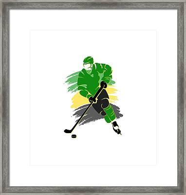 Minnesota North Stars Player Shirt Framed Print