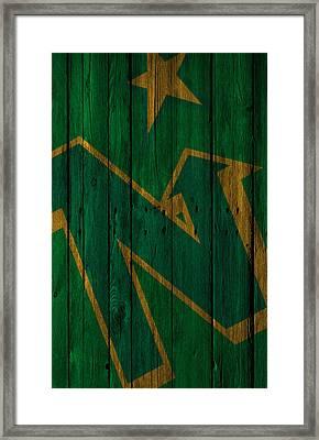 Minnesota North Stars Wood Fence Framed Print by Joe Hamilton