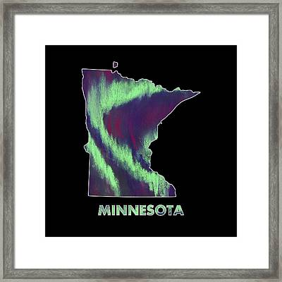 Minnesota - Northern Lights - Aurora Hunters Framed Print by Anastasiya Malakhova