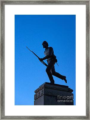 Minnesota Soldier Monument At Gettysburg Framed Print by John Greim