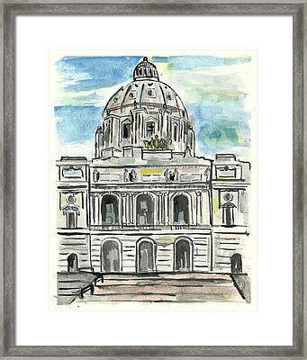 Minnesota State Capital Framed Print by Matt Gaudian