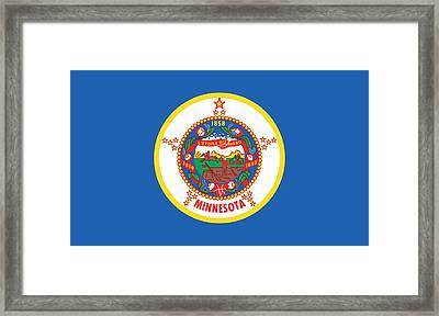 Minnesota State Flag Framed Print by American School