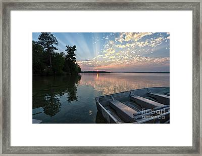 Minnesota Sunset At Deer Lake Framed Print