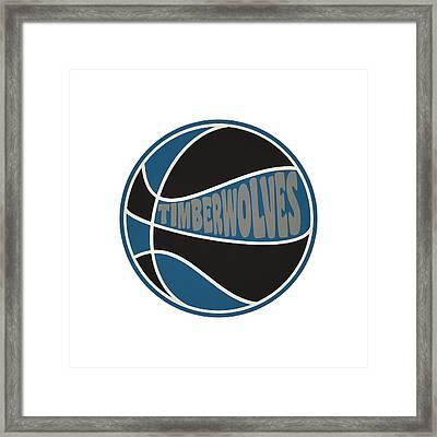 Minnesota Timberwolves Retro Shirt Framed Print by Joe Hamilton