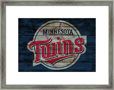 Minnesota Twins Barn Door Framed Print