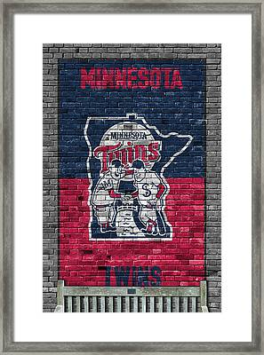 Minnesota Twins Brick Wall Framed Print