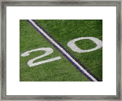 Minnesota Vikings 20 Yard Line Framed Print by Kyle West