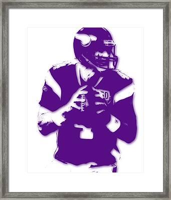 Minnesota Vikings Bret Favre Framed Print