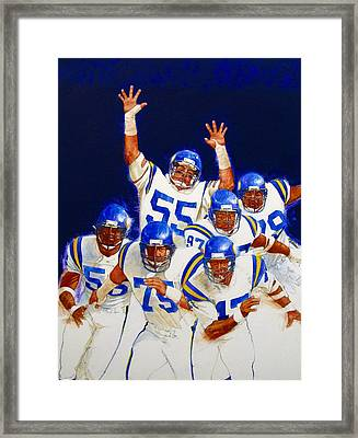 Minnesota Vikings Front Four  Framed Print