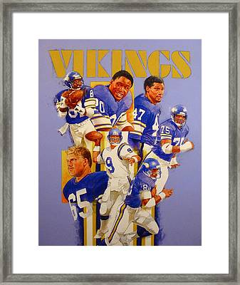 Minnesota Vikings Game Day Cover  Framed Print