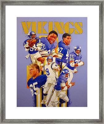 Minnesota Vikings Game Day Cover  Framed Print