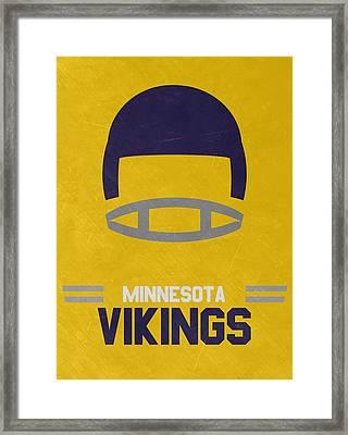 Minnesota Vikings Vintage Art Framed Print by Joe Hamilton