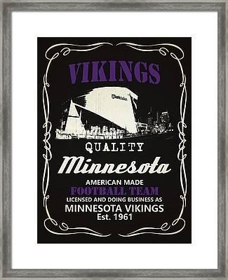 Minnesota Vikings Whiskey Framed Print by Joe Hamilton