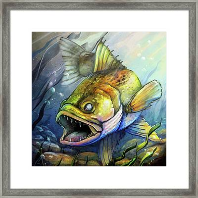Minnesota Walleye Fish Framed Print