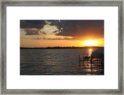 Minnetonka Sunset Framed Print by Noah Dachis