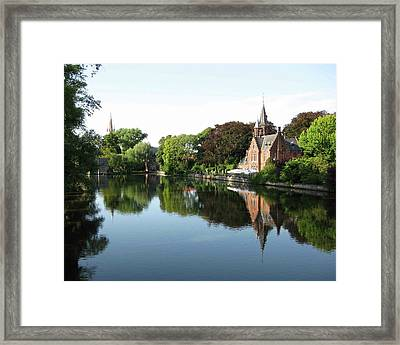Minnetwaterpark Bruges Framed Print by David L Griffin