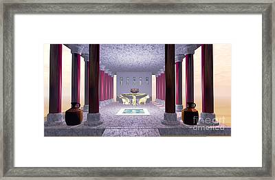 Minoan Temple Framed Print by Corey Ford