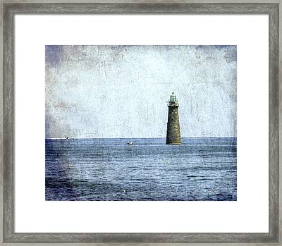 Minot Ledge Light Framed Print