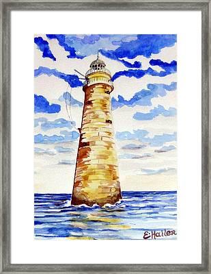 Minot Lighthouse Framed Print by Elaine Cummins