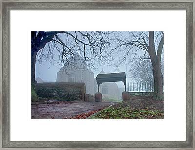 Minster Abbey Fog Bound Framed Print