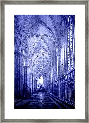 Minster In Blue Framed Print by Svetlana Sewell