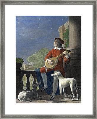 Minstrel, 19th Century Framed Print