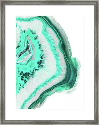 Mint Agate Framed Print by Emanuela Carratoni