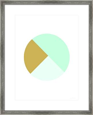 Mint And Gold Ball- By Linda Woods Framed Print