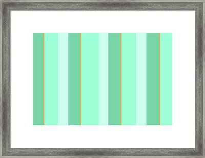 Framed Print featuring the mixed media Mint Green Stripe Pattern by Christina Rollo
