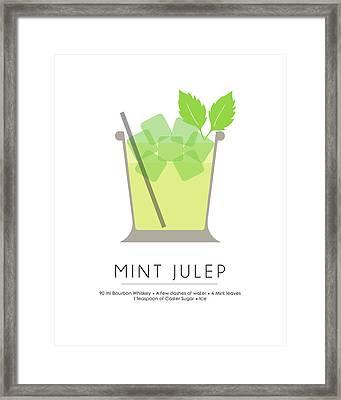 Mint Julep Classic Cocktail - Minimalist Print Framed Print