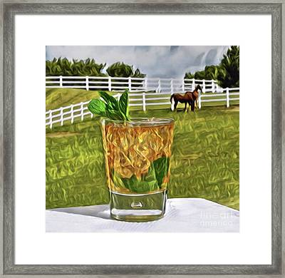 Mint Julep Kentucky Derby Framed Print