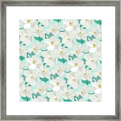 Mint Magnolias Framed Print by Elizabeth Tuck