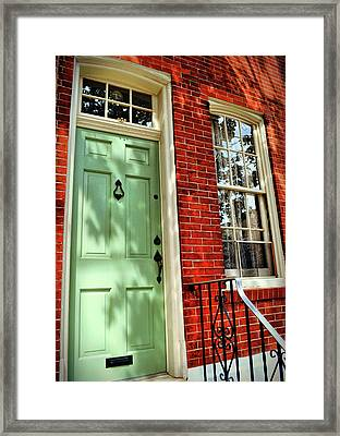 Minty Welcome Framed Print by JAMART Photography