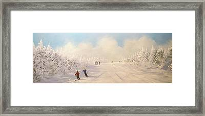 Framed Print featuring the painting Minus 9 by Ken Ahlering