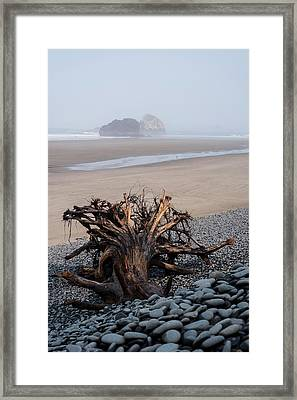 Minus Tide At Arch Cape Framed Print